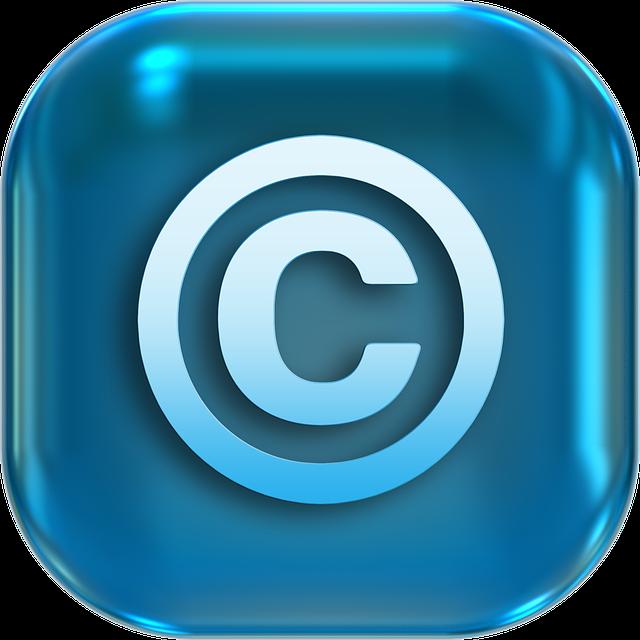 copyright droit d'auteur publication image sur internet